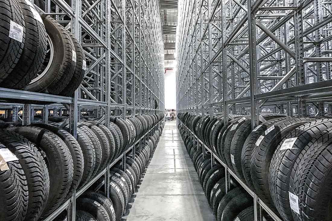 Stockage pneus